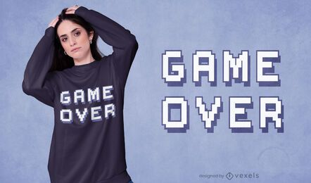 Diseño de camiseta Game Over quote