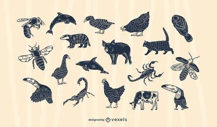 Tier ausgeschnittenes Set-Design