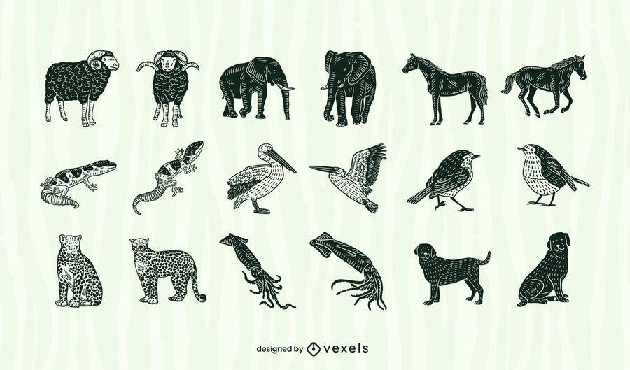Animal cut out set