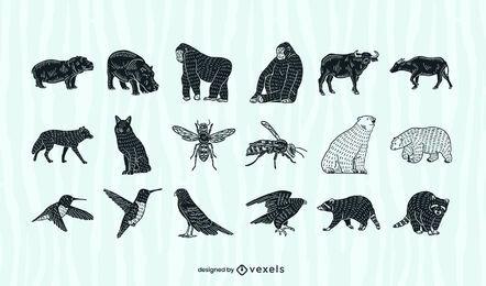 Colección de recortes de animales