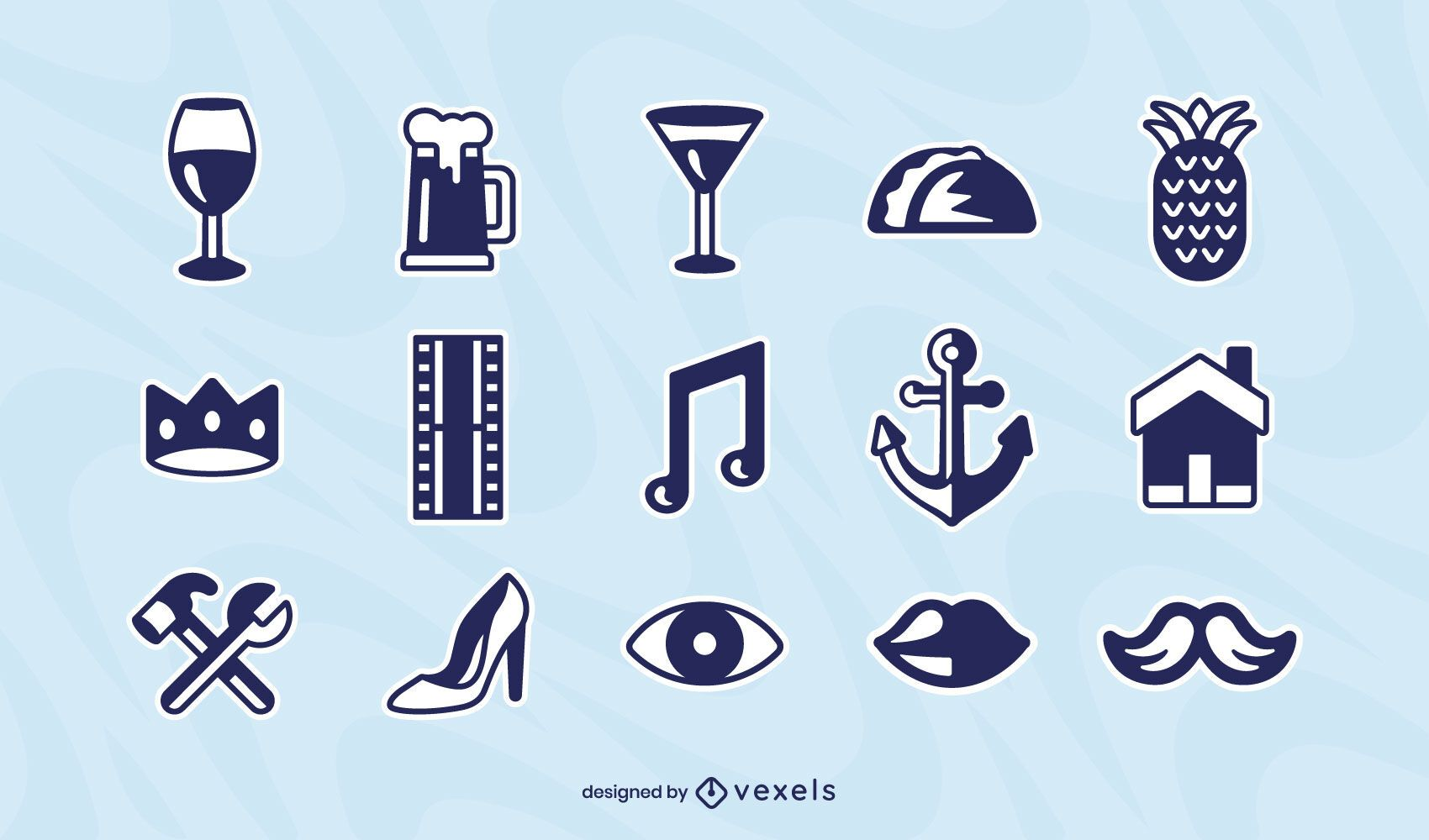 Misc elements icon set