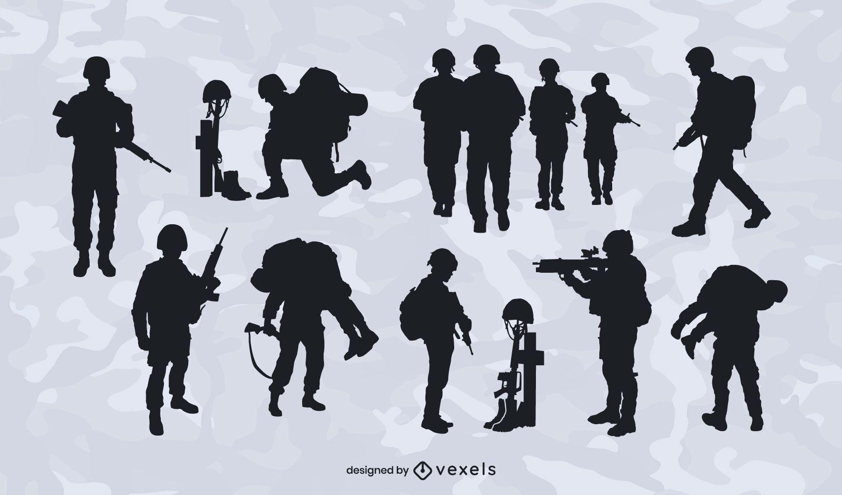 UK military silhouette set