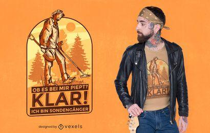 Design de t-shirt de citações alemãs Detectorist
