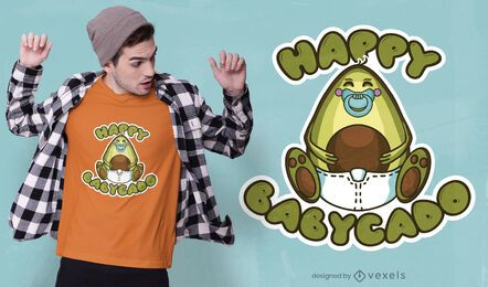 Diseño de camiseta happy babycado