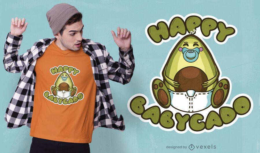 Happy babycado t-shirt design