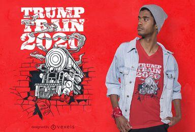 Design de camiseta Trump Train 2020