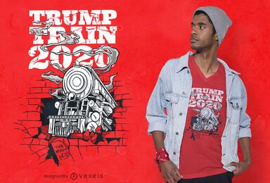Diseño de camiseta Trump train 2020