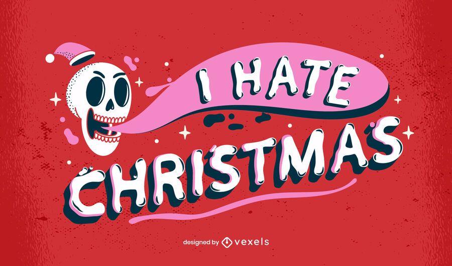 Anti christmas lettering design