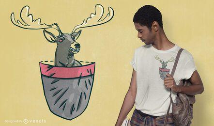 Design de camiseta de cervo furioso