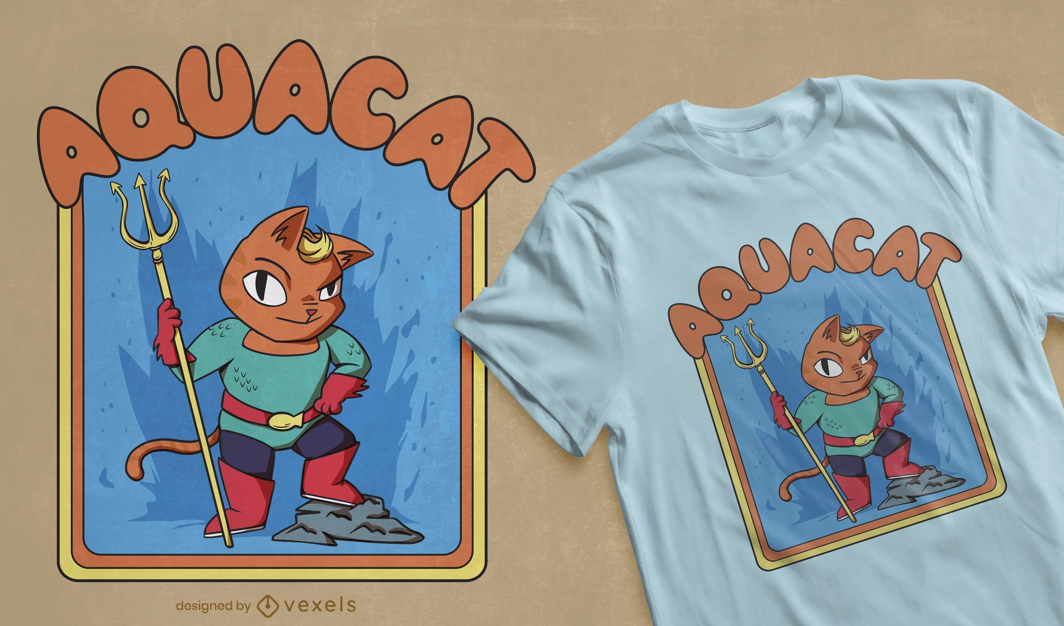 Aquacat t-shirt design