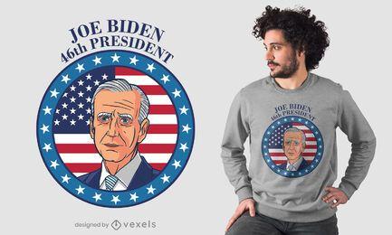Diseño de camiseta del presidente biden