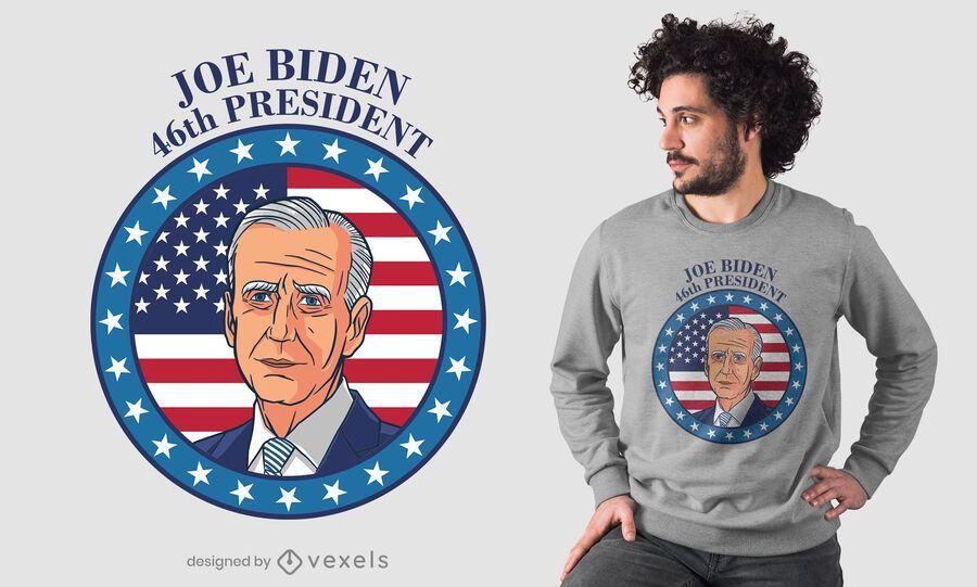 Design da camiseta do presidente biden
