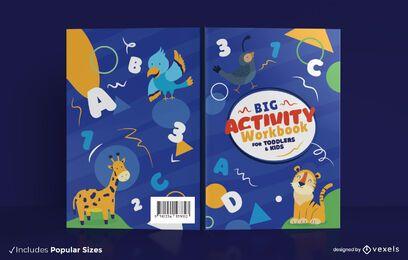 Kinder Aktivitätsarbeitsbuch Cover Design