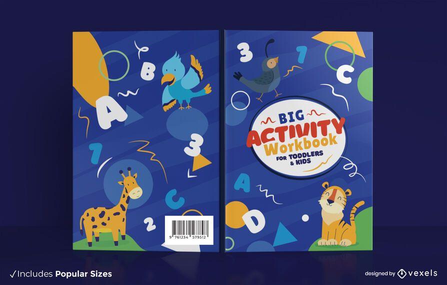 Design da capa do livro de atividades para crianças