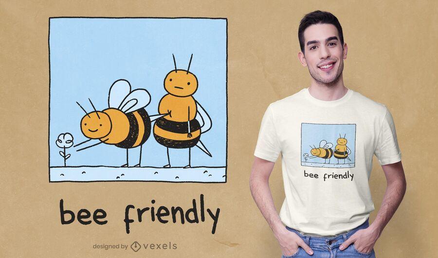 Design de camiseta amigável para abelhas
