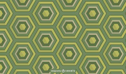Desenho de padrão de concha de tartaruga