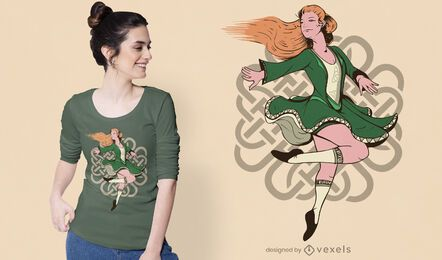 Irish female dancer t-shirt design