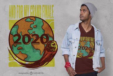 Design de t-shirt grand finale de 2020