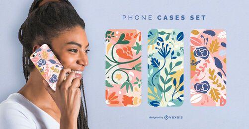Telefonhüllenset der bunten Blumen