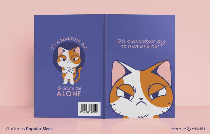 Design de capa de livro de gato mal-humorado