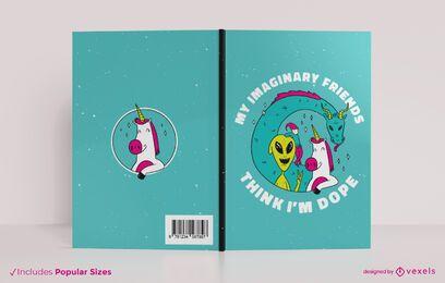 Diseño de portada de libro de amigos imaginarios