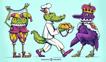 Conjunto de caracteres do carnaval