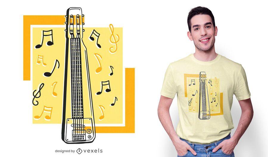 Steel guitar t-shirt design