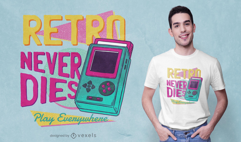 Retro never dies t-shirt design