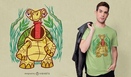 Diseño de camiseta con cuello de tortuga