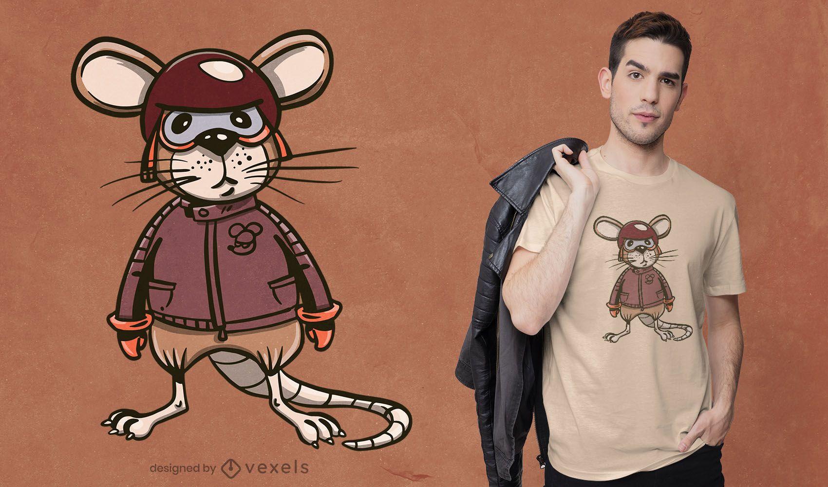 Biker rat t-shirt design