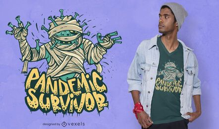 Diseño de camiseta de sobreviviente de pandemia