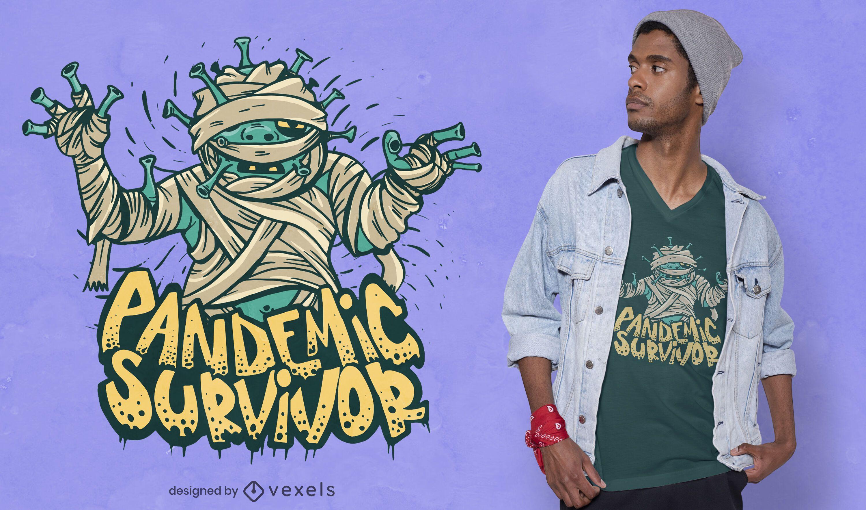Pandemie Überlebender T-Shirt Design