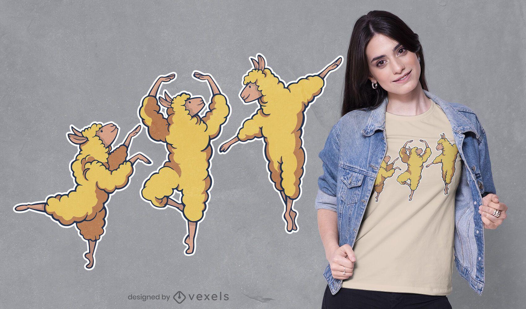 Ballerina alpacas t-shirt design