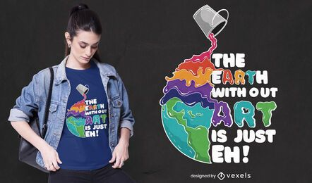 Tierra sin diseño de camiseta de arte.