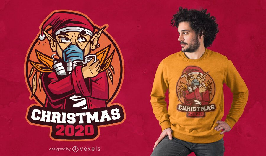 Diseño de camiseta Navidad 2020
