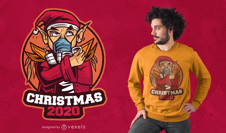 Dise?o de camiseta Navidad 2020