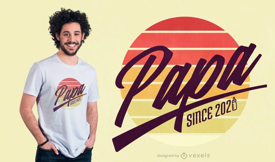 Diseño de camiseta Papa quote