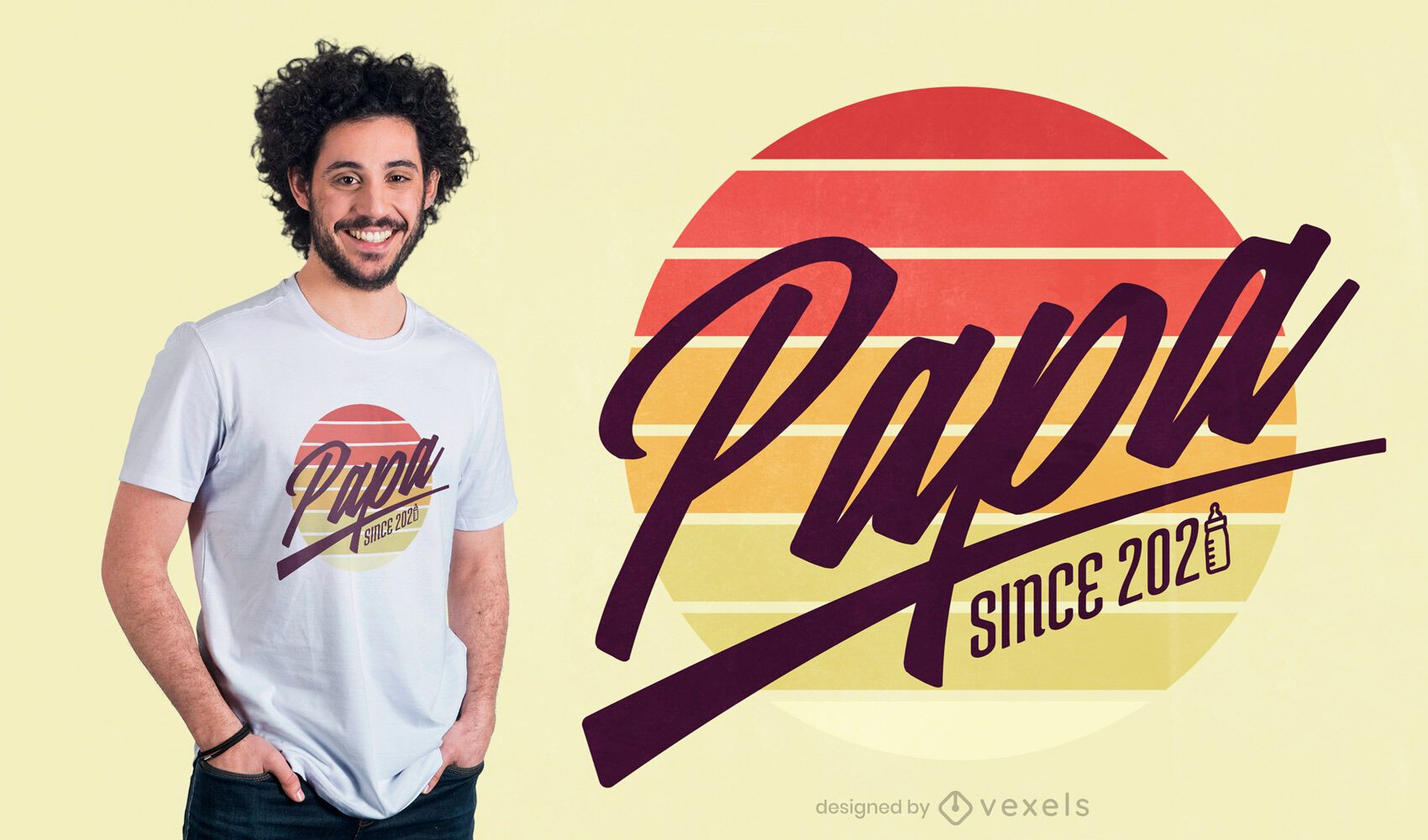 Papa quote t-shirt design