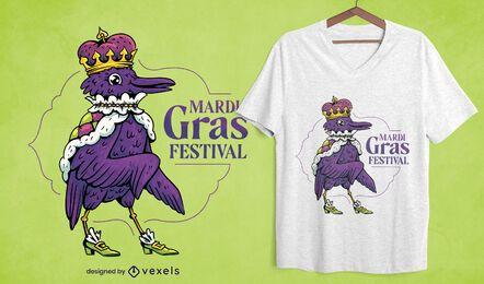 Diseño de camiseta del festival de mardi gras.