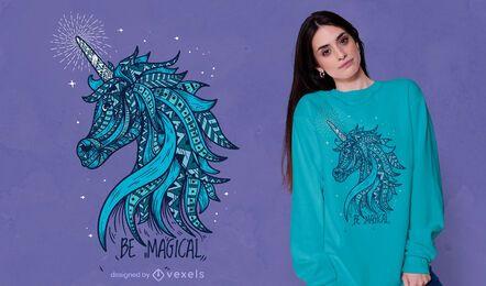 Diseño de camiseta de unicornio mágico
