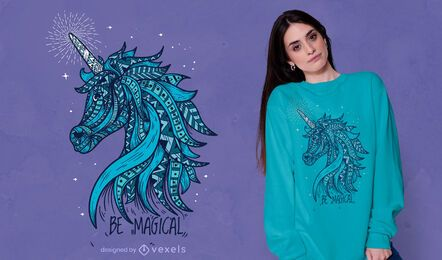 Magical unicorn t-shirt design