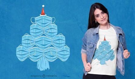 Gesichtsmaskenbaum-T-Shirt Design