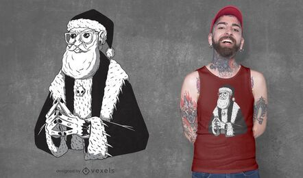 Goth santa claus t-shirt design
