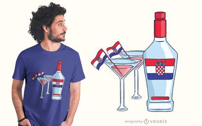 Croatia martini t-shirt design
