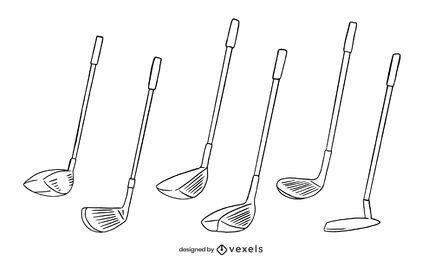 Conjunto de tacadas de taco de golfe