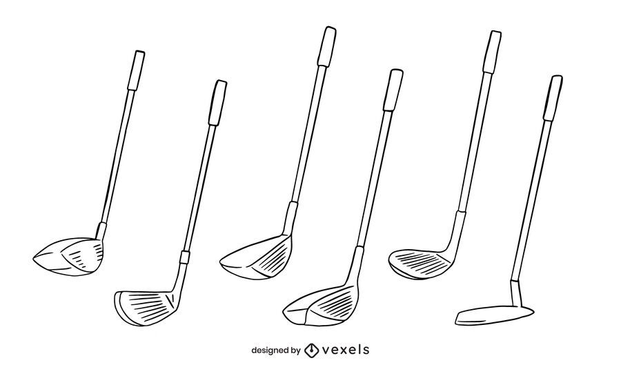 Golf club stroke set