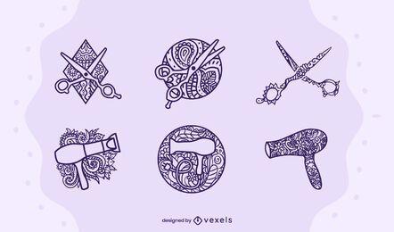 Friseur Mandala Set