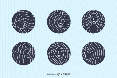 Women isotype set design