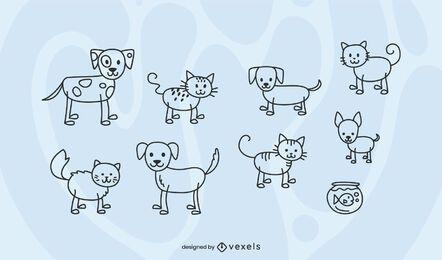 Set de figuras de palo para mascotas
