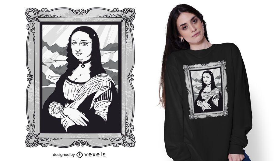 Design gótico de t-shirt mona lisa